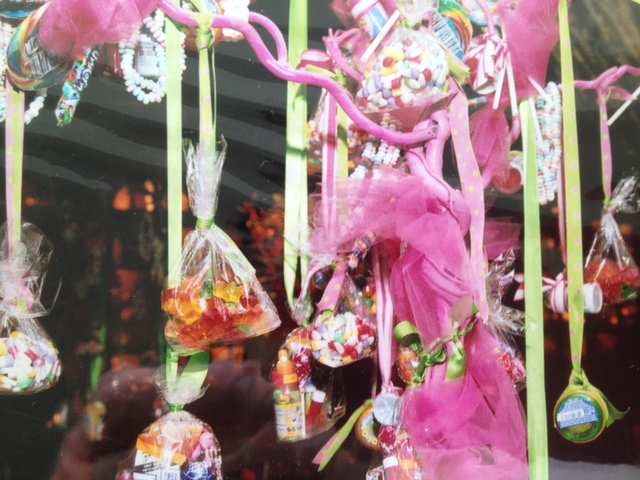 Candy Hanging from Trees with Ribbons I