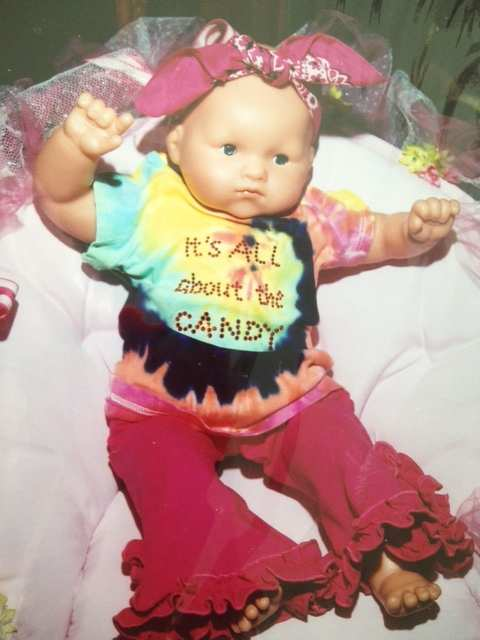 Candy-Themed Baby Shower Doll I